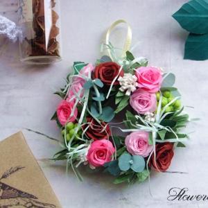 【紙のお花】ミニローズリース