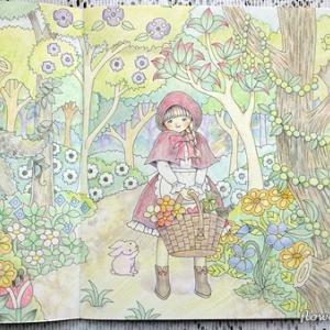 塗り絵 赤ずきんちゃん・人魚姫