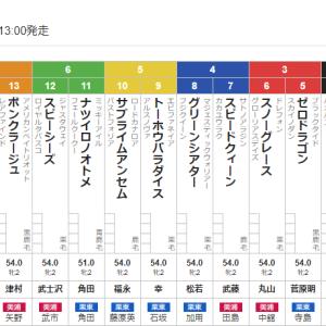 【一口馬主】スノーグレースちゃん新馬戦は3枠6番。抽優馬3世代連続新馬勝ちを狙いたい!