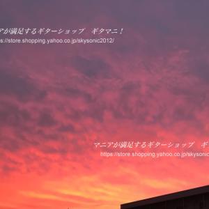梅雨の晴れ間の夕焼け空