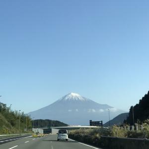 富士山はすでに雪が降っていました