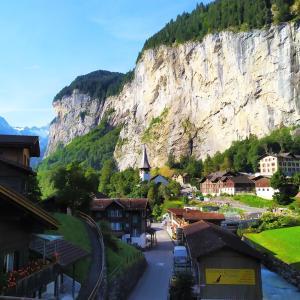 普段なら観光客で賑わうスイスアルプス~