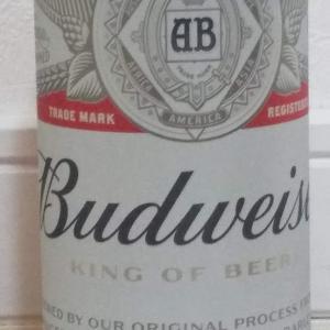 ビールで乾杯。「バドワイザー」