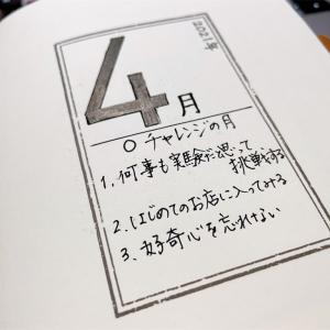 【Notebook】4月分のノート☆シングルタスクで取り組みます!