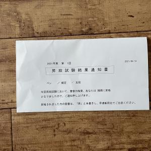 【ペンの光】規定部昇格試験の結果