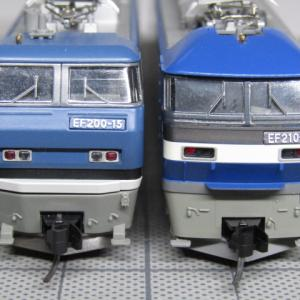 KATOの旧EF200とEF210に手すりを取り付ける