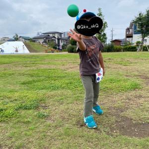 日記■7/22   公園でボール遊び 3y10m8d(46m8d)