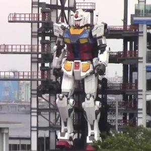 高さ18mの「ガンダム」が横浜で作動テスト、海外から大反響