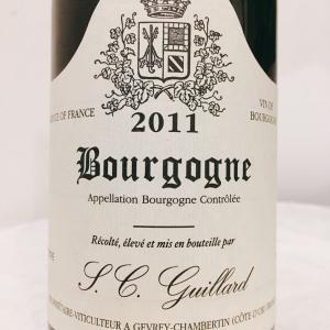 【フランス/ブルゴーニュ】ブルゴーニュ・ルージュ(Bourgogne Rouge)2011:ドメーヌ・ソシエテ・シヴィル・ギイヤール(Domaine S.C. Guillard)