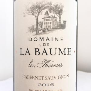 【フランス/ラングドック】レ・テルム・カベルネ・ソーヴィニヨン (Les Thermes Cabernet Sauvignon)2016:ドメーヌ ・ド・ラ・ボーム(Domaine de la Baume)
