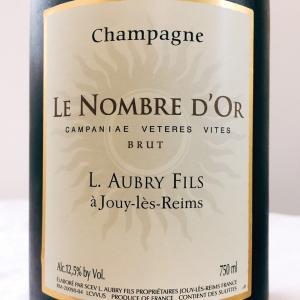 【フランス/シャンパーニュ】シャンパーニュ ル・ノンブル・ドール・カンパナエ・ヴェテレス・ヴィテス(Champagne Le Nombre d'Or Campanae Veteres Vites)2013:オブリ・フィス(L. Aubry Fils)