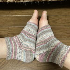 カカトの編み方によるフィット感
