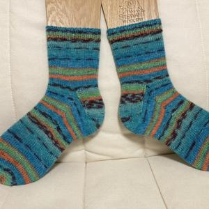 opal COMEDY靴下完成