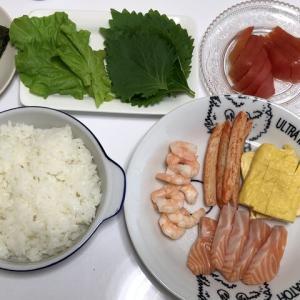 今日の晩御飯*手巻き寿司*