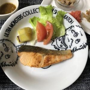 今日の晩御飯*秋鮭のムニエル*