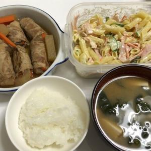 今日の晩御飯*大根と人参の肉巻*