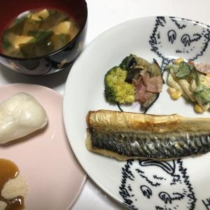 昨日の晩御飯*塩鯖*