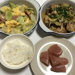 今日の晩御飯*キャベツと玉子の炒め物*