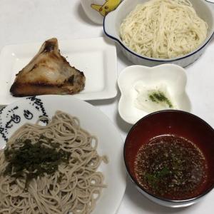 昨日の晩御飯*盛り蕎麦*