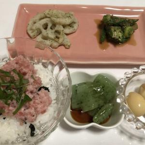 昨日の晩御飯*マグロたたき丼*