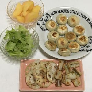 昨日の晩御飯*ニラ饅頭*