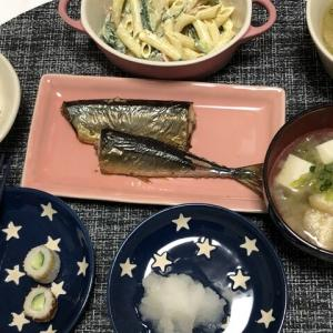 昨日の晩御飯*秋刀魚*