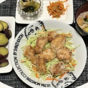 昨日の晩御飯*鶏胸の竜田揚げ*