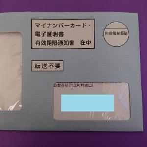 マイナンバーカードの電子証明書の更新手続きに行ってきた