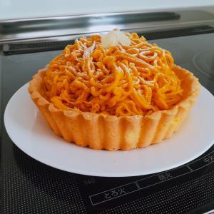米粉でかぼちゃのモンブランケーキ