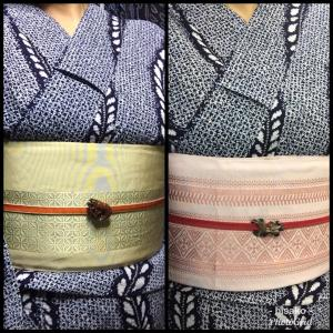 正絹とポリの帯(フリマのお知らせ)