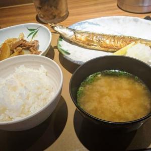 やよい軒 千葉シーワン店でさんまの塩焼と牛肉炒めの定食を食べました