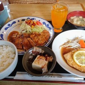 コスパ最高 館山 キッチンオレンジでランチ(ボリューム満点、メイン2品の定食でお値段935円)