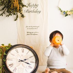 2歳 男の子のバースデーフォトブース