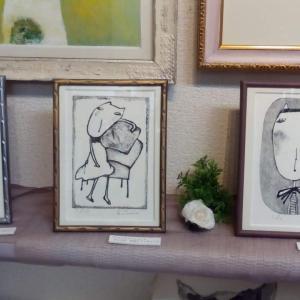 個展終了まで後2日 絵が売れた。