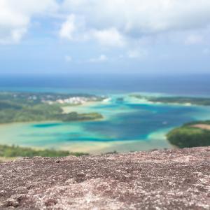 ■川平湾絶景テラス■ 標高200mの高さから川平湾を一望できる一枚岩