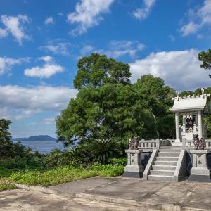 ■石垣島の気になるスポット■ サンゴ礁の海が見える尖閣神社