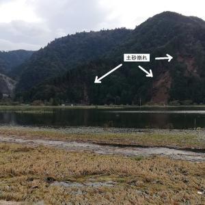 台風で冠水した伊東市池の状況です