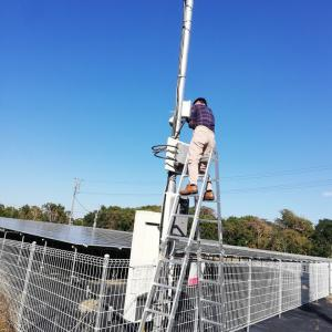 太陽光発電1号基&3~5号基の台風被害と点検除草