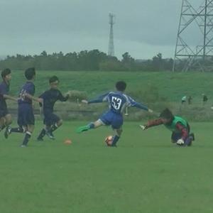 息子、初めての11人制サッカー