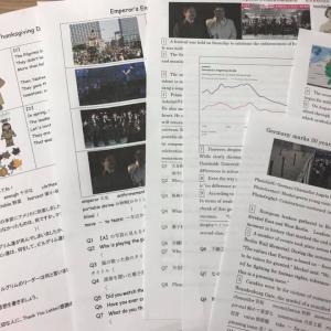 英語ニュースプリント 11月第3回 天皇の即位の式典、感謝祭、ドイツ統一記念式典
