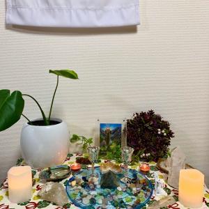 大地の女神の祭壇を作りました❤️