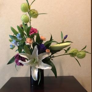 残ったお花を合わせて