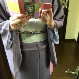 千總の江戸小紋に本綴れ帯