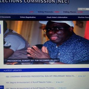 リベリア 大統領選挙 結果