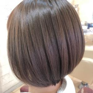 30代☆お客さまの綺麗な髪ツヤを守ることで完成する『シンプルボブ』♪