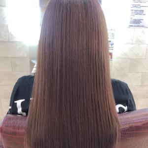 30代☆厚みのあるカットラインで広がらない髪×重さを感じない秋色のオレンジベージュ♪