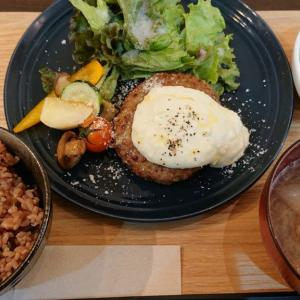 都賀駅前で頂くオーガニックなカフェランチ Cafe食堂hideaway(ハイダウェイ)のチーズフォンデュハンバーグ