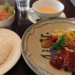 JR稲毛駅前のパスタハウス プリモ  肉料理からドリアからまで揃う老舗洋食屋さんで頂く、マスタード風味のハンバーグランチ