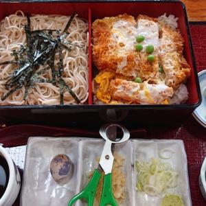 稲毛区山王町の人気蕎麦店、そば処 山水 蕎麦に丼、果てはハンバーグにラーメンまで揃うお店で頂く、上かつ丼&ざるそばセット