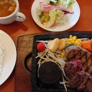 千葉市で食べる絶品ハンバーグといえば、やっぱりカウベル! あの人気コラボが復活!?弾力ハンバーグ×葡萄牛カットステーキセットを食べてみた